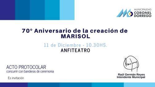70 años de Marisol. Mañana Acto Protocolar