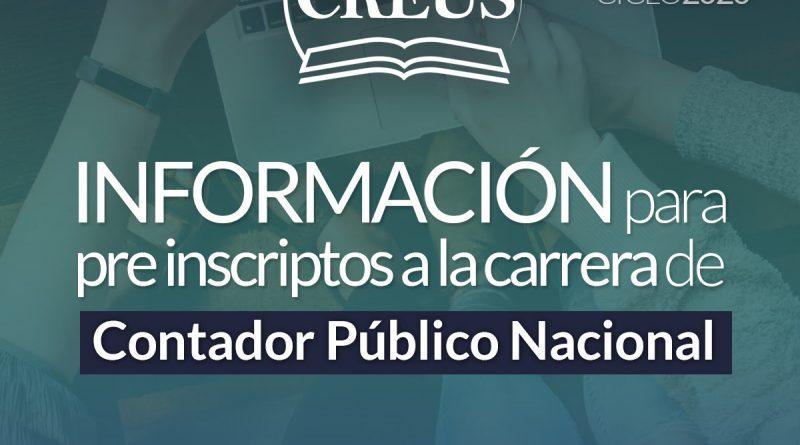 Educación: Información para pre inscriptos a la carrera de Contador