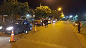 Controles policiales en Cuyo y Rosario