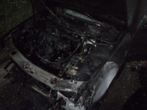 Incendio en un automóvil