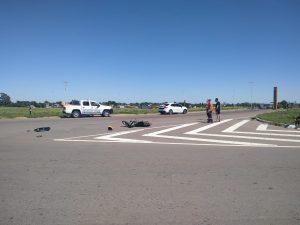 Colisionaron en la Rotonda de Ruta 3