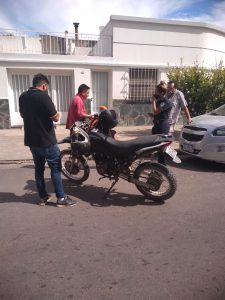 Moto Keller partícipe de accidente en Blandengues y Almafuerte