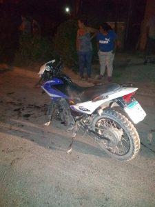 Choque entre motos en Piccoli