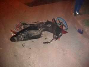 Moto accidentada en Piccoli