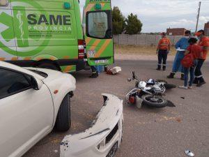 Accidente vial cerca del Cementerio Bahía Blanca