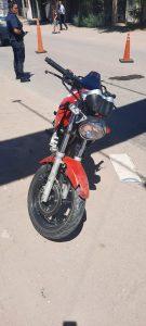 Moto involucrada en colisión Bahía