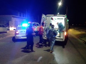 Caída de moto en Esmeralda y Brown Bahía Blanca