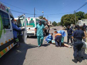 Asistencia médica tras choque en Bahía