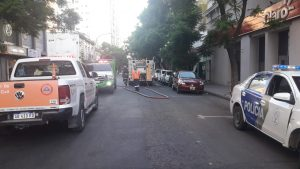 Incendio en local del centro bahiense