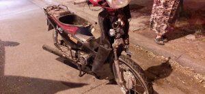 Moto involucrada en incidente en Ángel Brunel