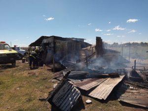 Fuego en una vivienda de Socrates Bahía Blanca