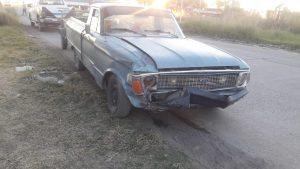 Automóvil impactado en Ruta 3