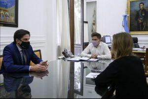 Trotta, Kicillof y Vila reunión por la vuelta a las aulas