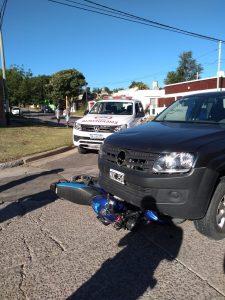 Motociclista herida en Fournier