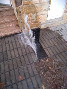 Medidores de agua inundaciones