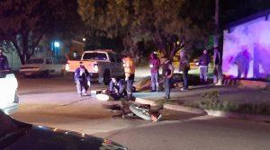 Accidente vial en Fortinero y Mitre