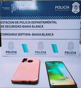 Celular robado en Parque Perón Bahía Blanca