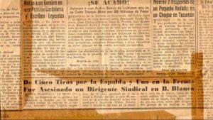 Trujillo asesinado en Bahía Blanca por la dictadura militar