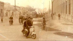 Trujillo liderando una movilización en moto