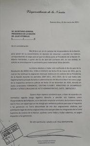 CFK renunció a su sueldo de vicepresidenta