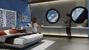 Habitación de hotel espacial
