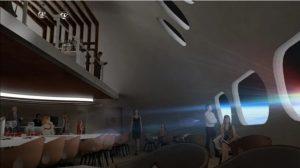 Restaurante del hotel en el espacio