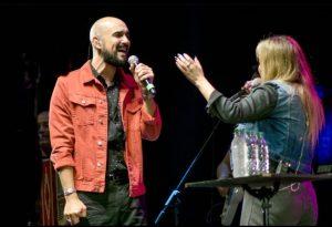 Abel y Karina en un show sorpresa en Tucumán