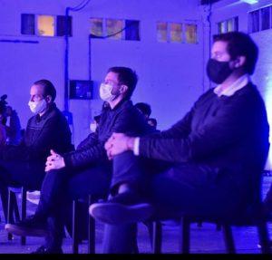 Augusto Costa, Susbielles y Juan Cruz Lucero en el Puerto Cultural