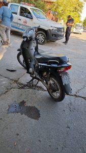 Motocicleta involucrada en siniestro vial Bahía Blanca