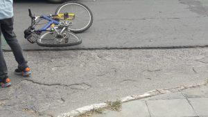 Bicicleta impactada en Bahía Blanca