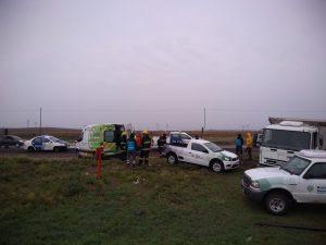Camión de Bahía Sapem volcó