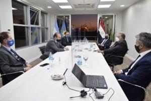 Reuniones en el Puerto junto al embajador de Egipto