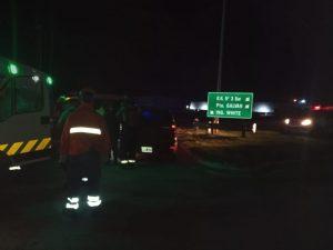 Motociclista herido en Pedro Pico y Ruta 3