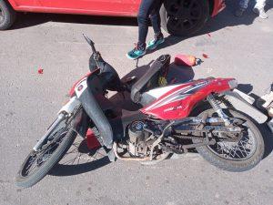 Motociclista herida en Brandsen al 100