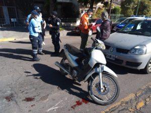 Choque en Avenida Alem y Santiago del Estero